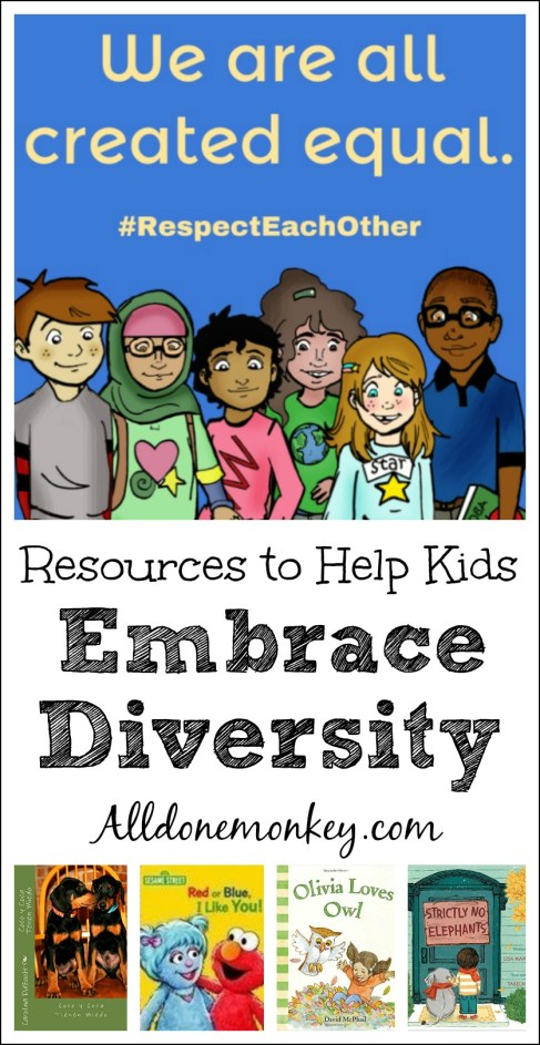 Resources to Help Kids Embrace Diversity | Alldonemonkey.com