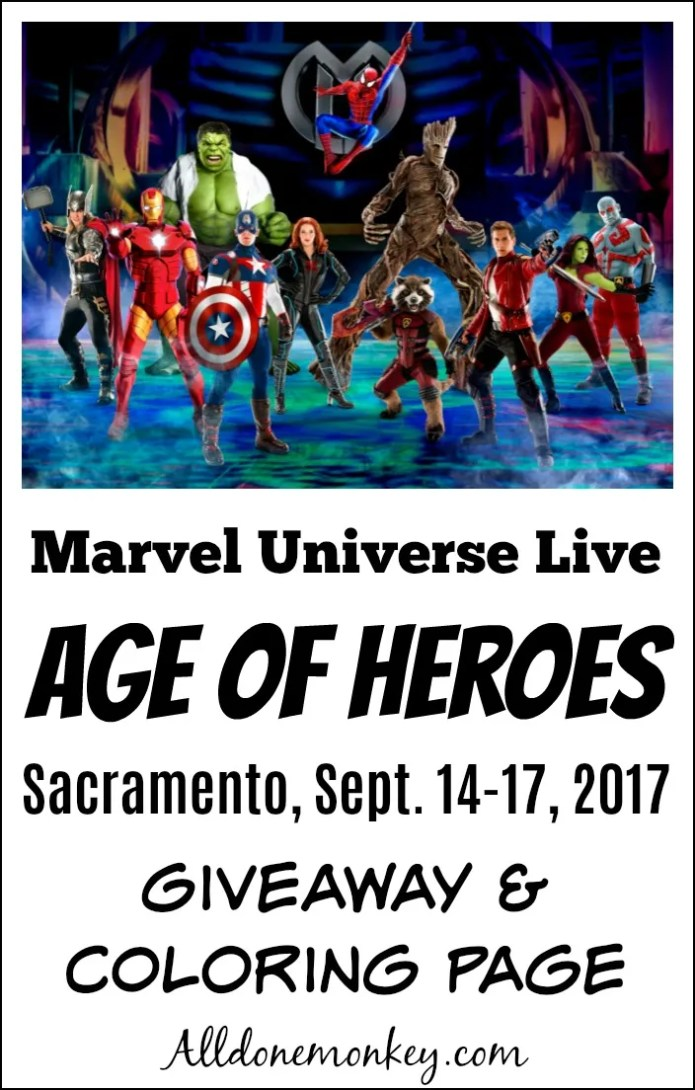 Marvel Universe Live Age of Heroes Giveaway & Coloring Page | Alldonemonkey.com