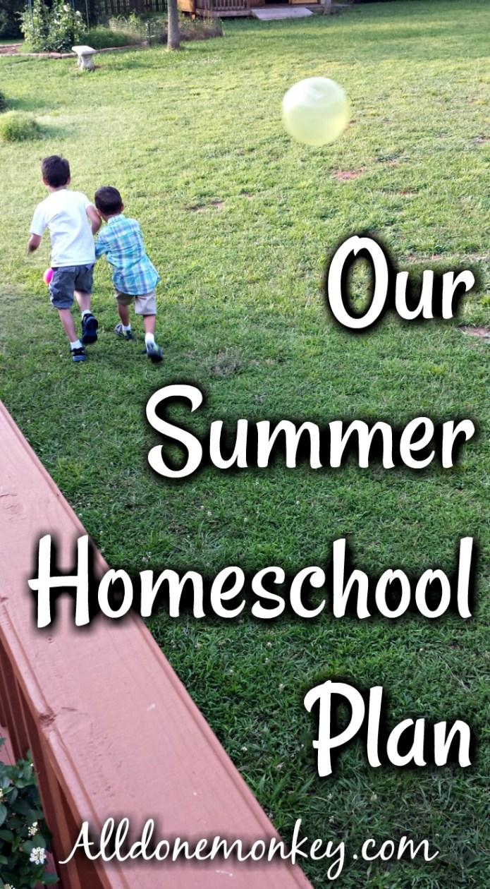 Our Summer Homeschool Plan | Alldonemonkey.com
