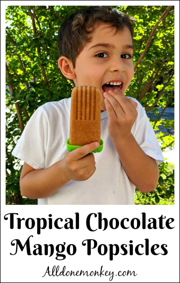 Tropical Chocolate Mango Popsicles | Alldonemonkey.com