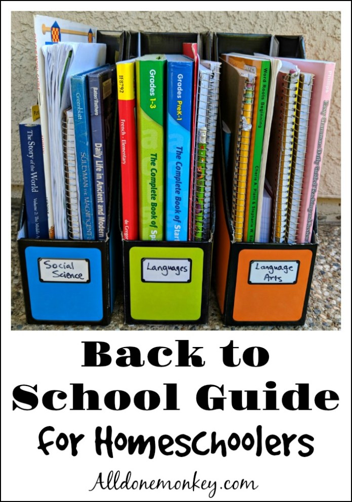 Back to School Guide for Homeschoolers | Alldonemonkey.com