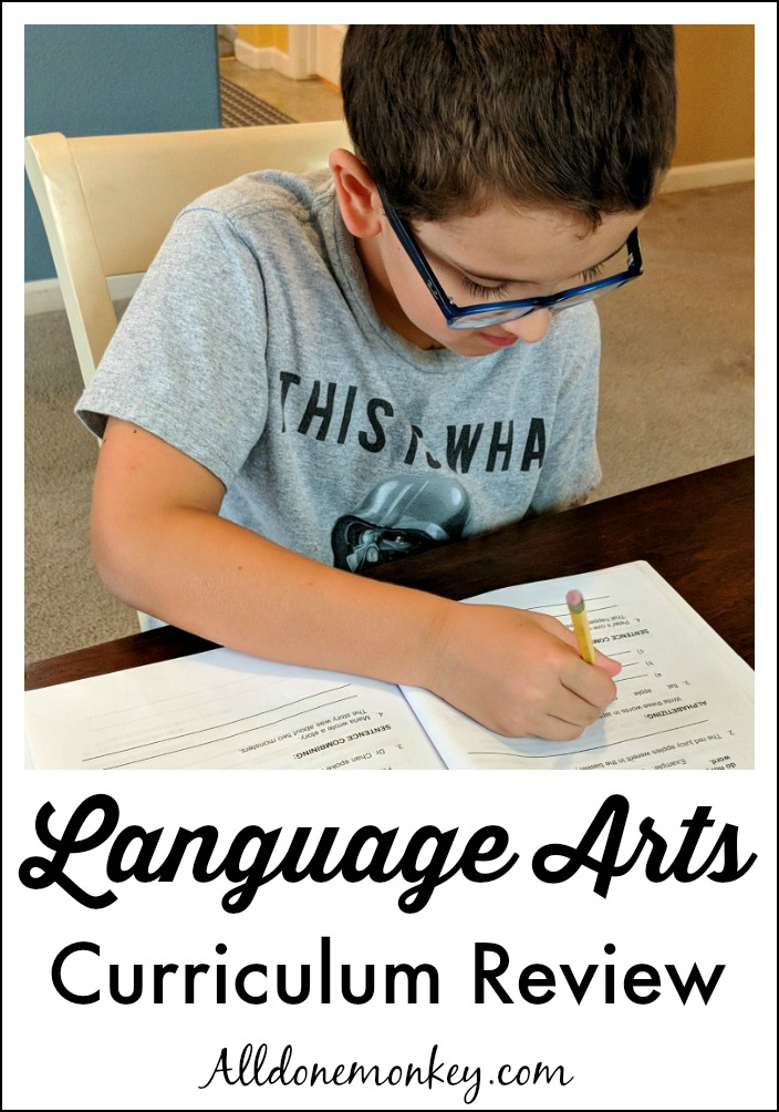 Homeschool Language Arts Curriculum Review Elementary All Done Monkey