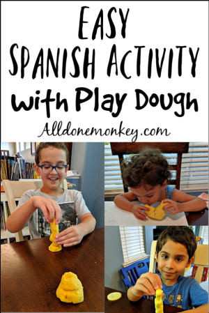 Easy Spanish Activity with Play Dough