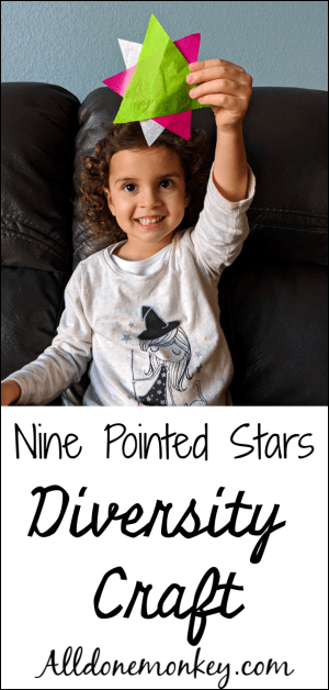 Diversity Craft for Kids: Easy Nine Pointed Stars