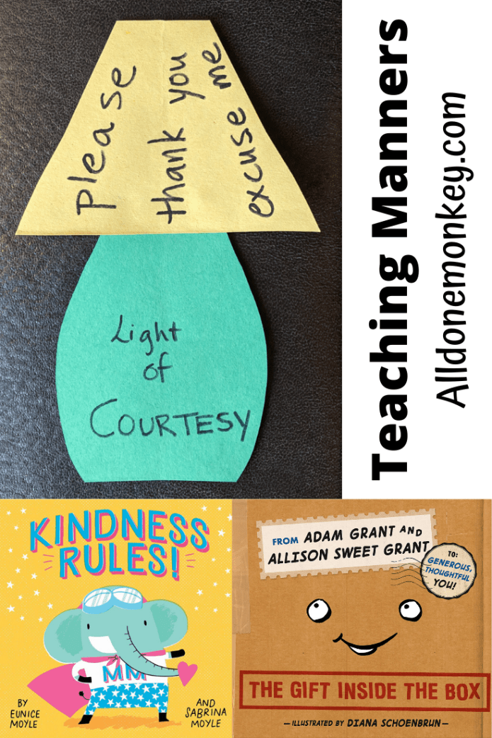 Teaching Manners: Resources and Simple Courtesy Craft | Alldonemonkey.com