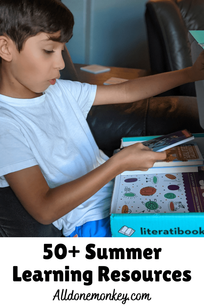 Summer Learning Resources: 50+ Ideas for Families | Alldonemonkey.com