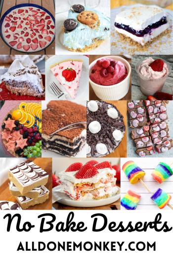 No Bake Desserts: Summertime Treats | Alldonemonkey.com