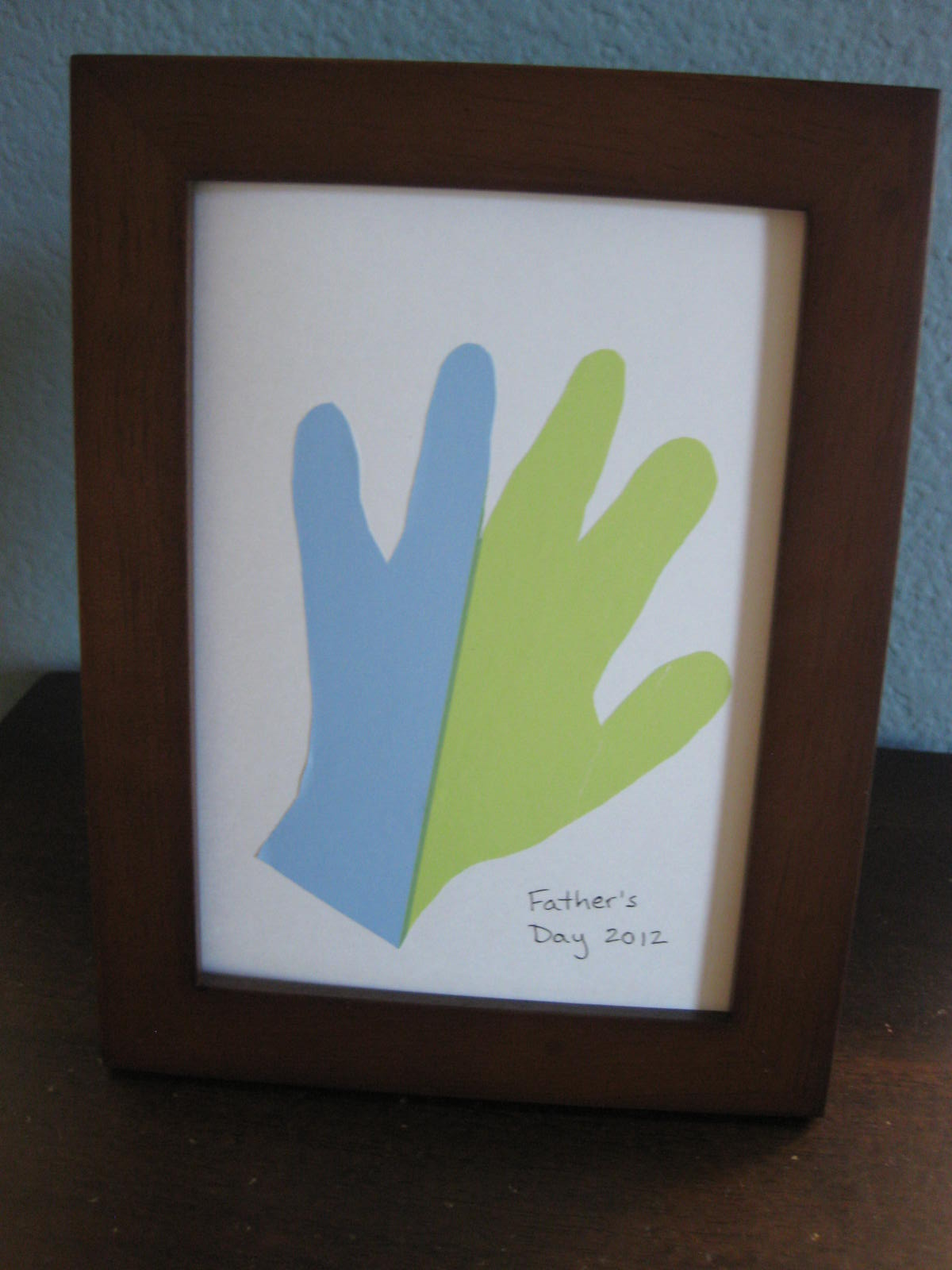 Father's Day Hand Print Craft All Done Monkey