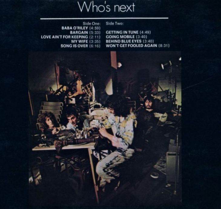 The Who - Whos-Next back