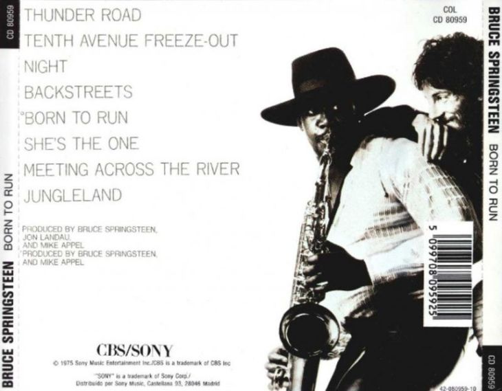 bruce springsteen - born to run (back)