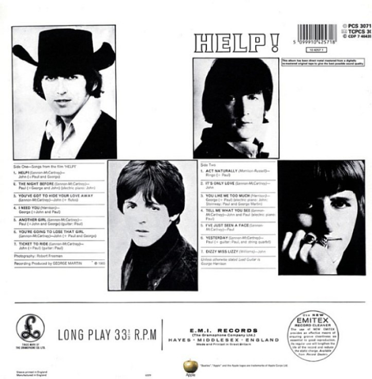 the beatles help album back