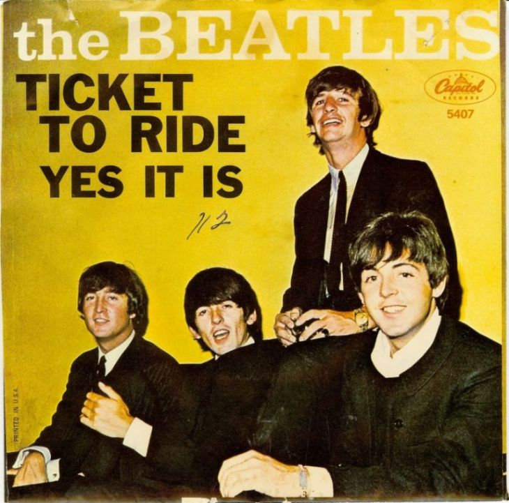 ticket to ride beatles picture sleeve