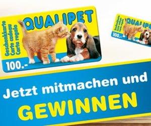 CHF 100.- Qualipet-Geschenkkarte gewinnen