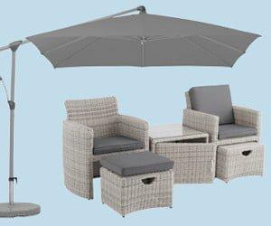 Weber-Grill, Sonnenschirm oder Sessel-Set gewinnen
