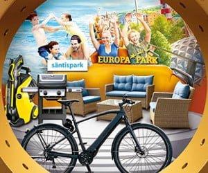 E-Bike, Weekends für Familien, Gartenmöbel, Gutscheine und mehr gewinnen