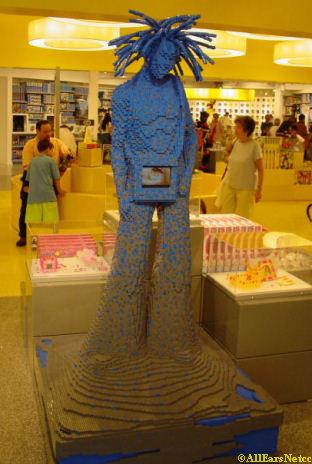 lego sculptures downtown disney