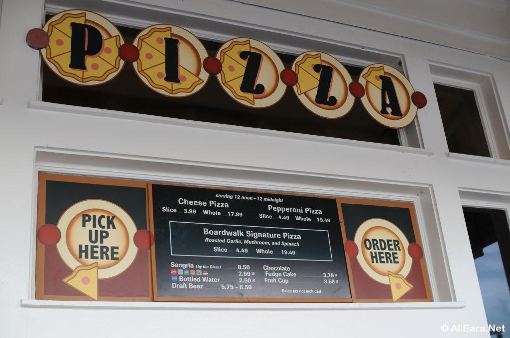 Boardwalk Pizza Window at Walt Disney World - Menus. Reviews & Photos - AllEars.Net