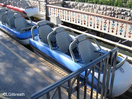 The bobsleds were converted to a single seat configuration in 2012, with new interlocking seatbelts. Attraction Seating Photo Gallery At The Disneyland Resort Theme Parks Allears Net