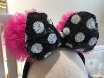 Betsey Johnson Designer Minnie Mouse Ears Pretty In