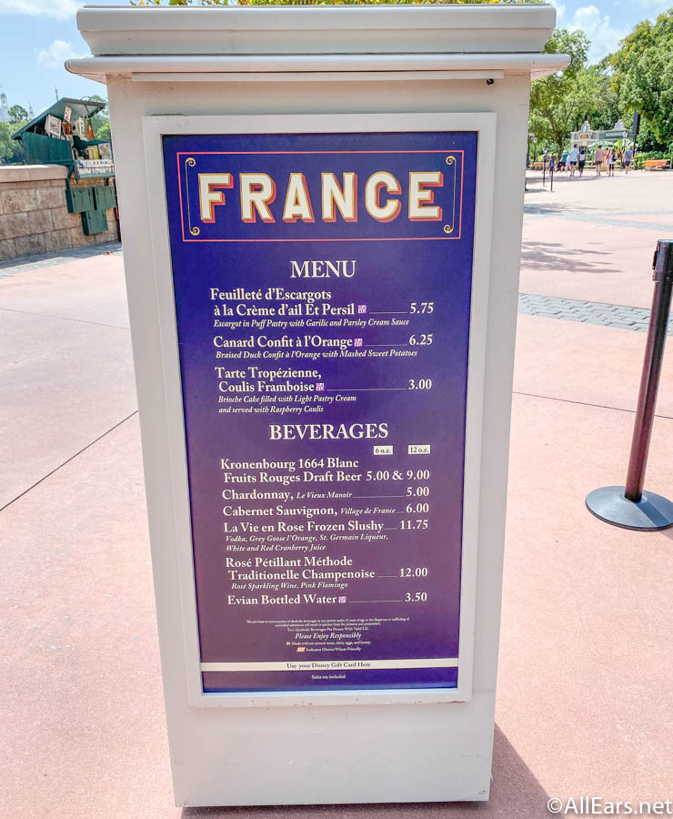 France Booth Menu 2020 EPCOT Food and Wine Festival_ - AllEars.Net