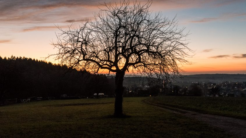Kraichgau, Winter, Sonnenuntergang, Landschaft