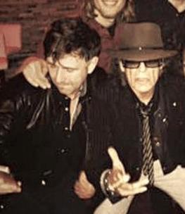 German rock singer Udo Lindenberg with bassist David Alleckna