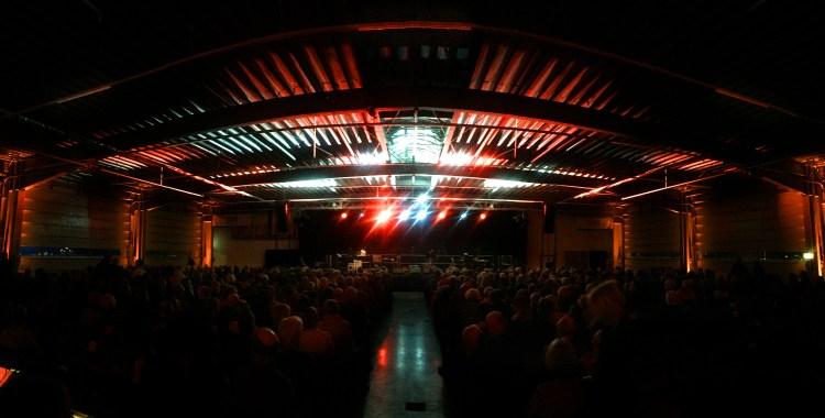 Die Bühne der Nacht der Lieder 2019 in Flensburg.