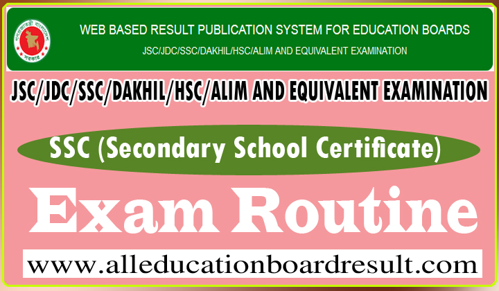 SSC Exam Routine Bangladesh