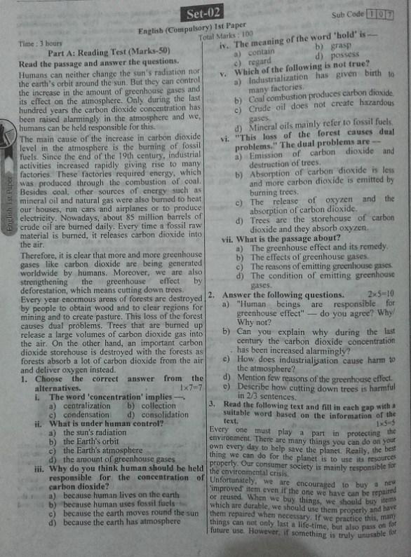 SSC English 1st Paper Suggestion 2019