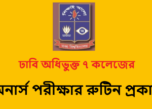 DU 7 College Honours 4th Year Routine 2018