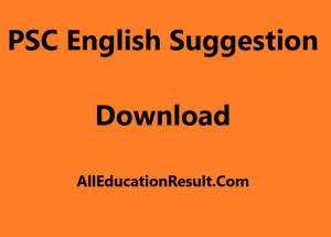 PSC English Suggestion 2018