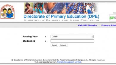 PSC Scholarship Result 2020 PDF