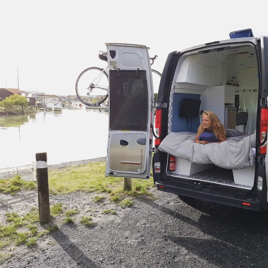 alleen reizen camper