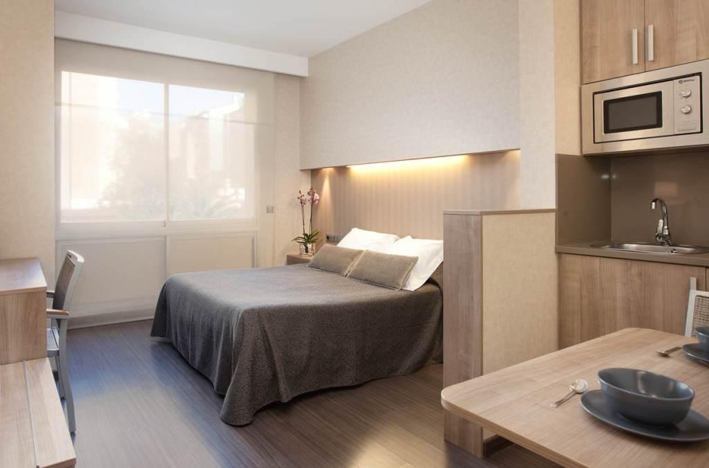 kamer van Aparthotel Silver in Barcelona