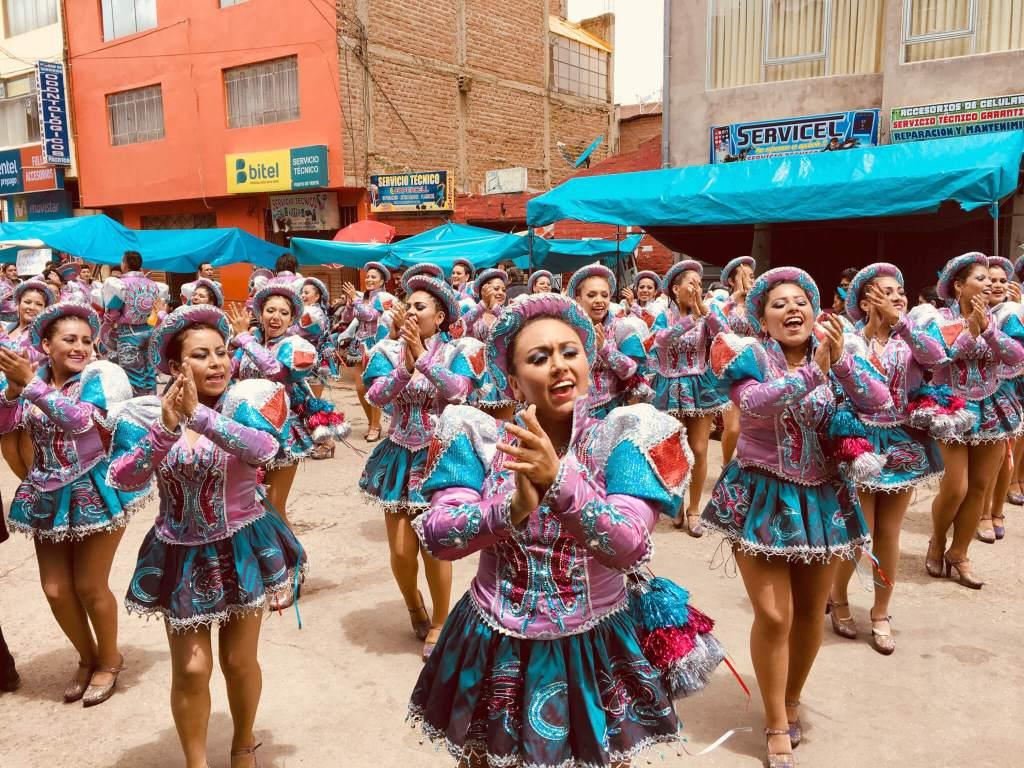 Carnaval vieren in Puno in Peru