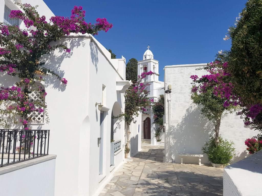 Het dorp Pyrgos op het eiland Tinos
