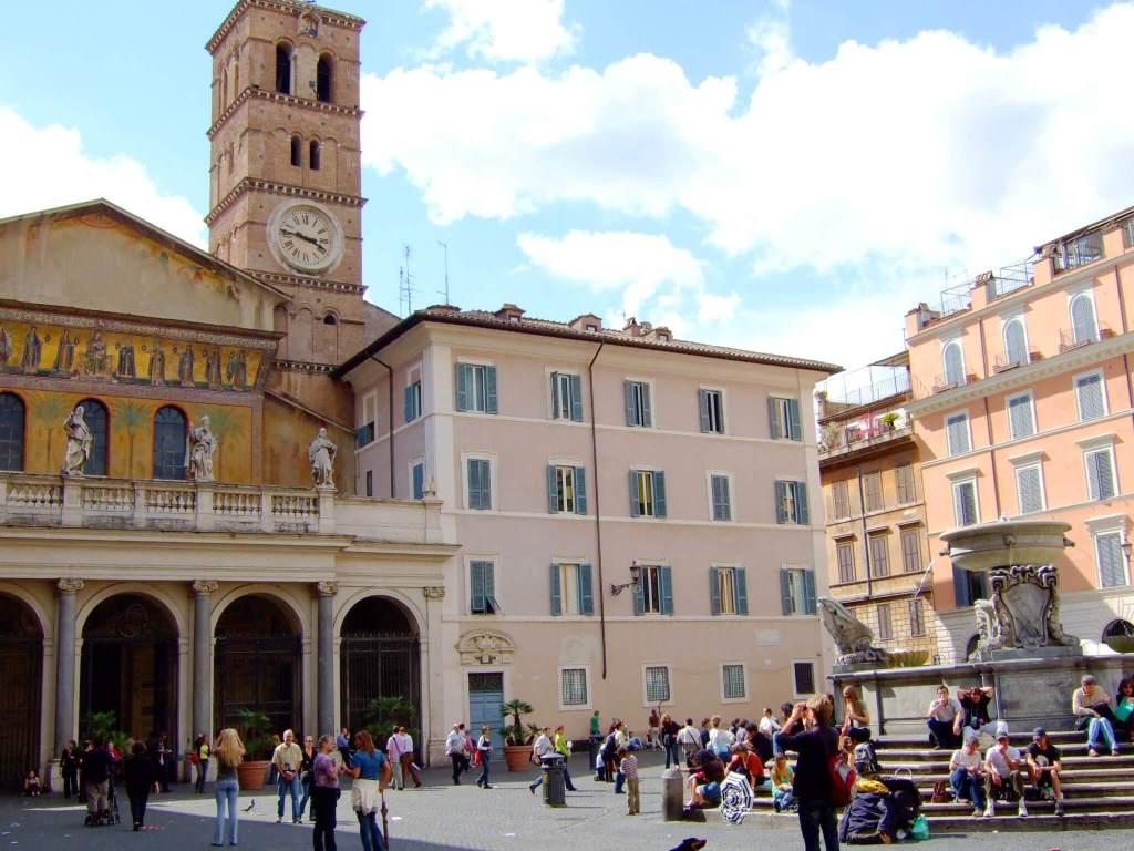 De gezellige wijk Trastevere in Rome