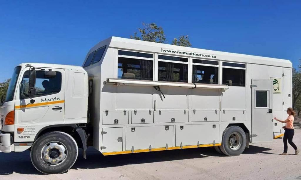 Het vervoer van de groepsreis door Namibie en Botswana