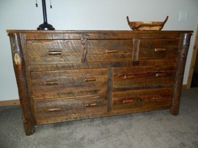 Barnwood Hickory Leg Dresser