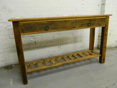 Console Table With Drawers and a Shelf