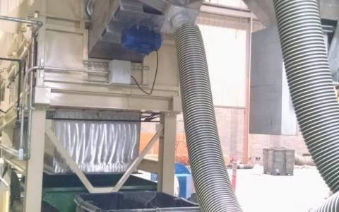 Fluidised Chute for Hot Fiber Transport