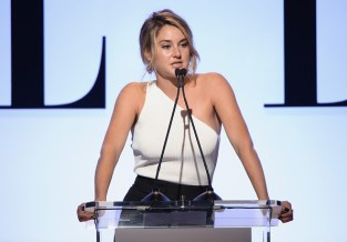 LOS ANGELES, CA - OCTOBER 19: Actress Shailene Woodley speaks onstage during the 22nd Annual ELLE Women in Hollywood Awards presented by Calvin Klein Collection, L'Oréal Paris, and David Yurman at the Four Seasons Los Angeles at Beverly Hills on October 19, 2015 in Beverly Hills, California. (Photo by Michael Kovac/Getty Images)