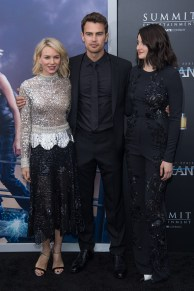 "NEW YORK, NY - MARCH 14: (L-R) Actors Naomi Watts, Theo James and Shailene Woodley attend the ""Allegiant"" New York Premiere at AMC Loews Lincoln Square 13 theater on March 14, 2016 in New York City. (Photo by Mark Sagliocco/Getty Images)"