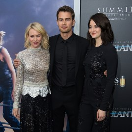 "NEW YORK, NY - MARCH 14: (L-R) Actors Naomi Watts, Theo James and Shailene Woodley attend the ""Allegiant"" New York premiere at AMC Lincoln Square Theater on March 14, 2016 in New York City. (Photo by Michael Stewart/Getty Images)"
