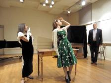 The trio from Mozart's Der Schauspieldirektor in a Lucy Moses School Opera Workshop recital, 5/19/2014