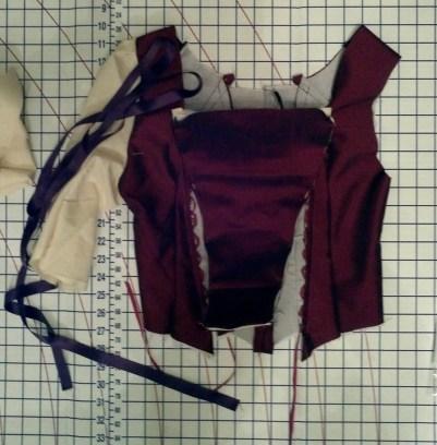 Red dress in progress, Replenished Repertoire, 2012