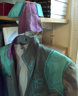Green frock coat and coordinating hat, Replenished Repertoire, 2012