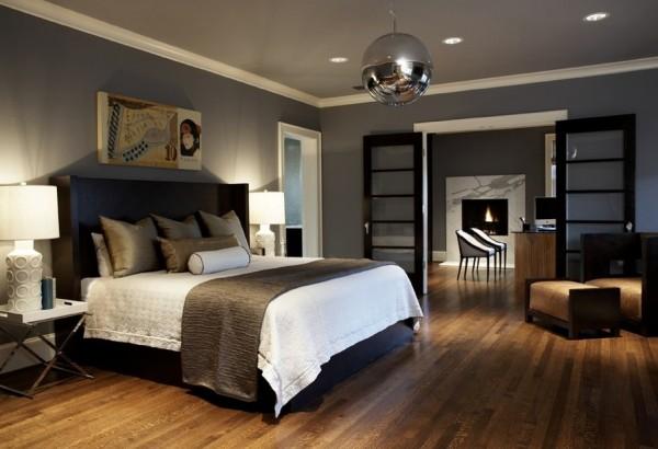 Erfrischende Ideen fr Schlafzimmer die dunkel gefrbt sind