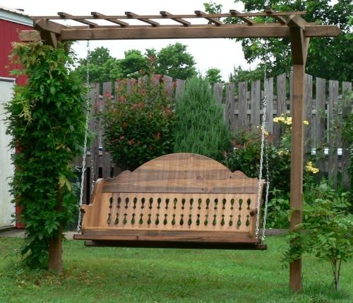 Perfekte Holz Schaukel im Garten  10 coole aktuelle Ideen