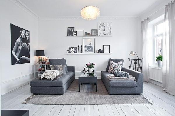 Wohnzimmer Ideen Grau Grun